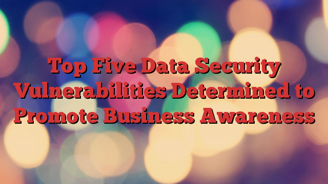 Top Five Data Security Vulnerabilities Determined to Promote Business Awareness